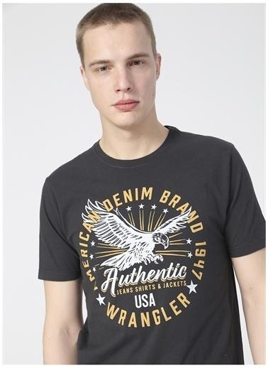 Wrangler Wrangler W7AHD3XV6_Grafik T-shirt  Siyah